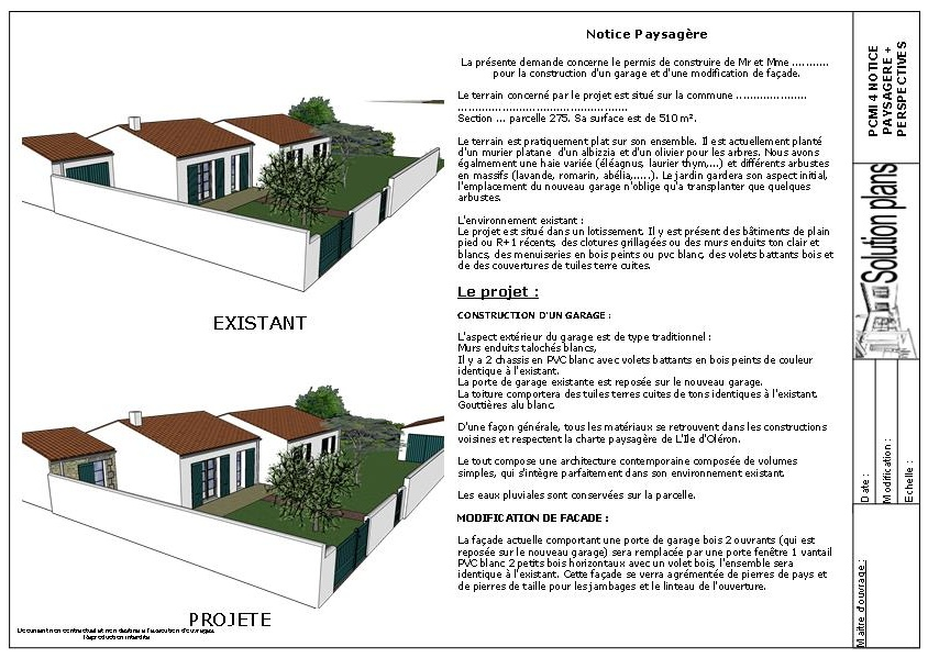 Solution plans dessinateur permis de construire ol ron 17 - Exemple de plan de garage ...