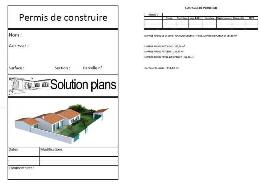 Marvelous permis de construire garage 11 exemple n 2 for Garage construit sans permis de construire