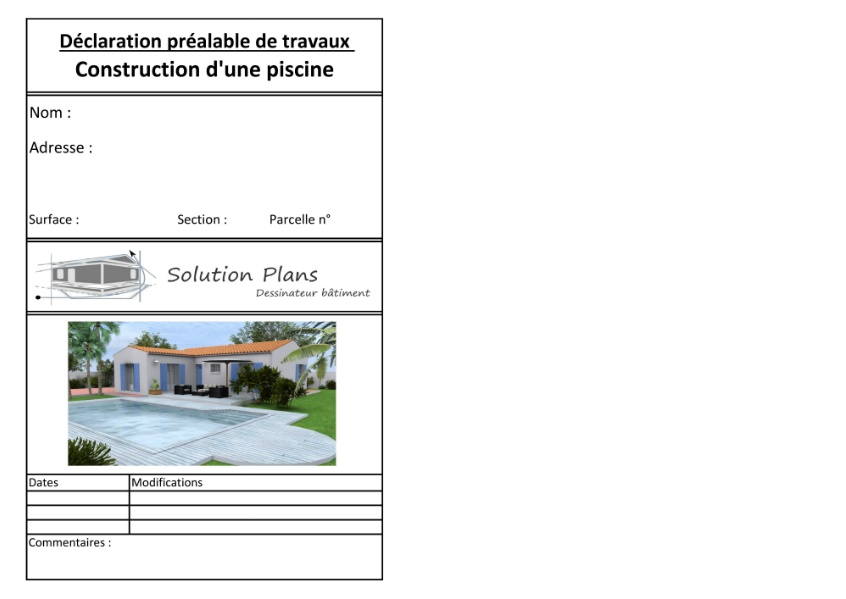 d claration pr alable de travaux solution plans ForDemande De Travaux Piscine